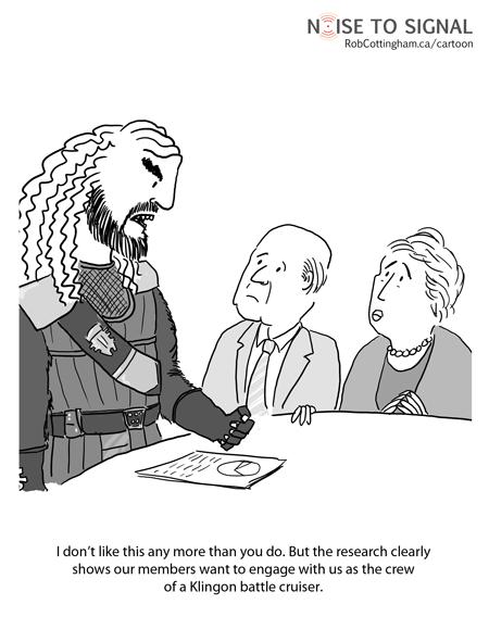 klingon noise to signal engagement cartoon