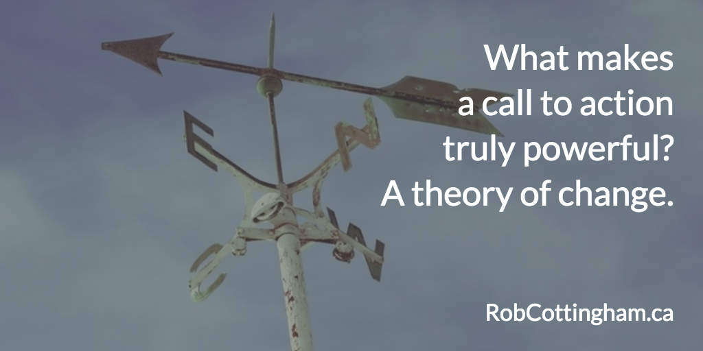 What makes a speech's call to action powerful? A theory of change.